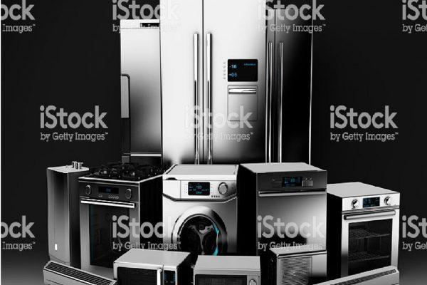 3D illustration of appliance on black background